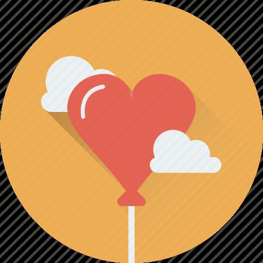 balloon, birthday, cloud, heart balloon, party icon