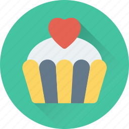 bakery, cupcake, dessert, muffin, pie icon