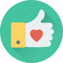 hand gesture, heart, like, ok, thumbs up icon