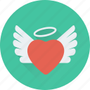 feather, heart, heart angel, love in air, romance icon