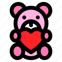 doll, heart, love, romance, romantic, teddy bear