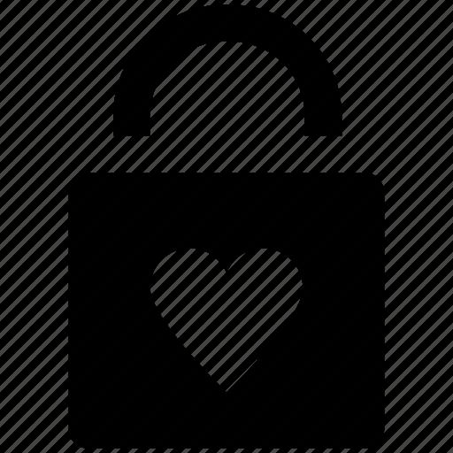 heart sign, love secret, padlock, privacy, relationship protection, romantic, secret feelings icon