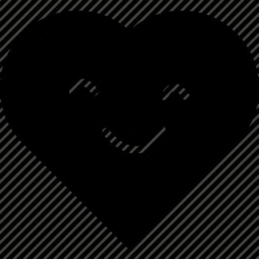 \, heart, heart smiley, smiley, smiley face icon