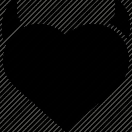 angel heart, devil, devil heart, heart icon