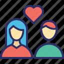 couple, family, lovers, sweethearts, wedding icon