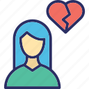broken, dating, heart, love icon