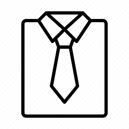 cloth, dress, shirt, tie, wear icon