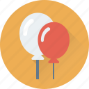 balloons, birthday balloons, celebration, kid balloon, party icon