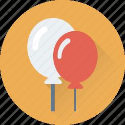 balloons, birthday balloons, celebration, kid balloon, party icon