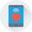 heart, love, mobile, smartphone, valentine icon