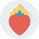 burning heart, flames, heart, passionate, romantic icon