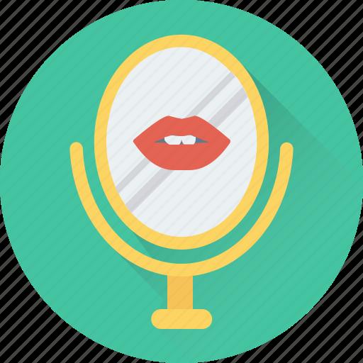 bathroom mirror, kissing, lips, mirror, salon mirror icon