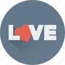 english, heart, love, love sign, written icon