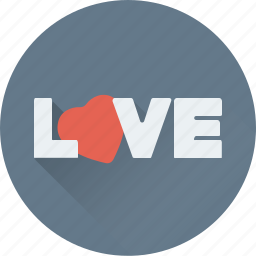 english, heart, love, love sign, written icon