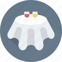 dining table, furniture, reception, table, table reservation icon