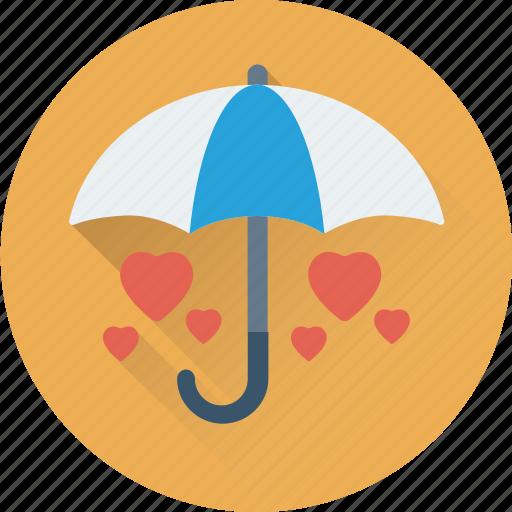 heart, in love, love care, protection, umbrella icon