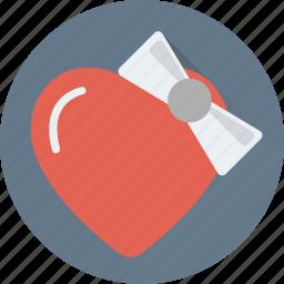 gift, heart, heart badge, heart gift, love badge icon