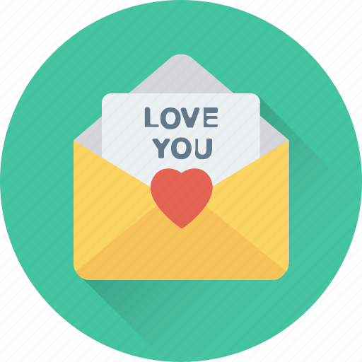 greetings, love, love letter, message, valentine card icon