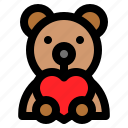 doll, love, romance, romantic, teddy bear, toy icon