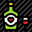beverage, champagne, love, romance, romantic, wine icon