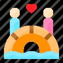 bridge, date, love, romance, romantic