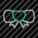 bow, gift, love, romance, tie icon