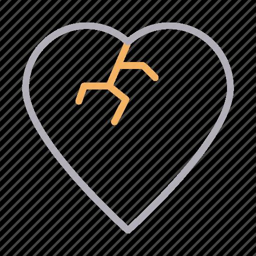 breakup, broken, damage, heart, love icon