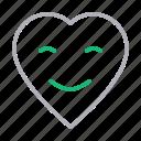 emoji, face, heart, love, smiley icon