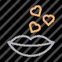 heart, kiss, lips, love, romance
