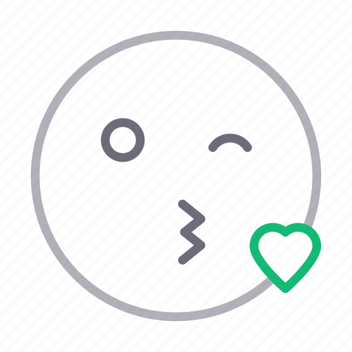 face, heart, kiss, love, romantic icon