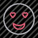 face, heart, love, romantic, smiley icon