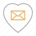 favorite, heart, like, love, message icon
