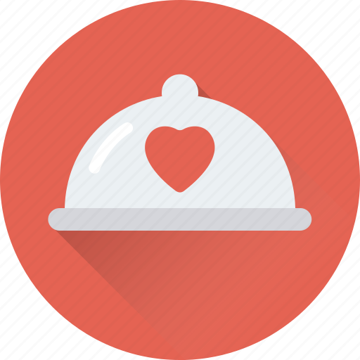 appetite, food, heart, platter, serving platter icon