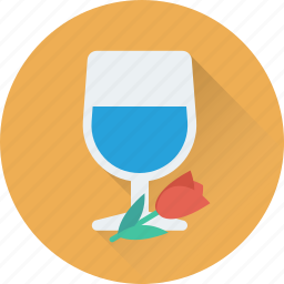 champagne glasses, cheers, glass, heart, wine glass icon