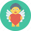 angel heart, favorite, heart, love, romantic icon