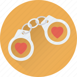 handcuff, hearts, in love, manacles, shackles icon