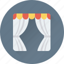 apartment window, home window, living room, stage curtain, window
