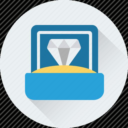 diamond, gem, gift, wedding gift, wedding ring icon