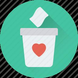 delete, dustbin, infographic, trash, trash can icon
