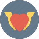 care, donation, hand gesture, love, valentine icon