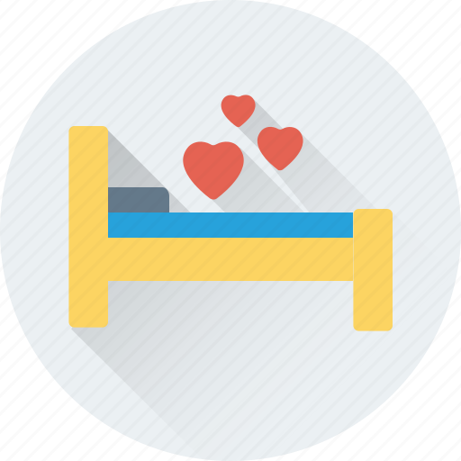 bed, bedroom, couple bed, hotel room, romantic icon
