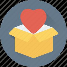 gift, gift box, opened box, present, present box icon