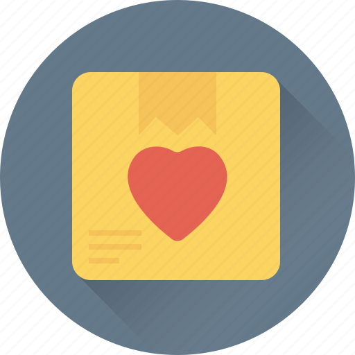 delivery box, gift, gift delivery, heart, shipping icon