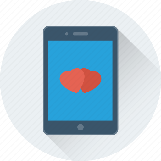 heart, love, mobile, smartphone, valentine icon