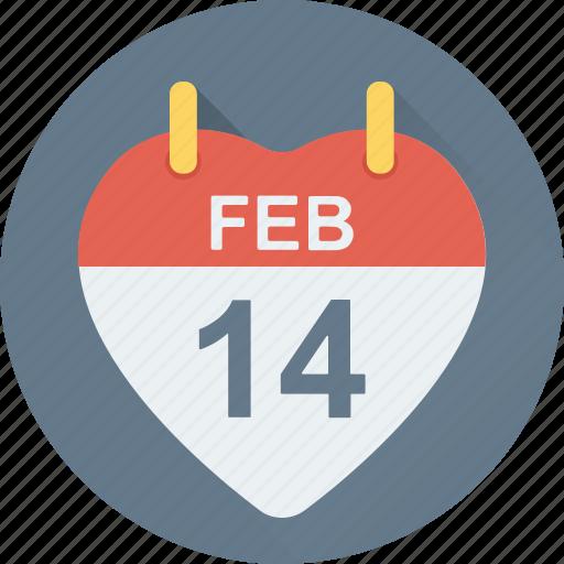 heart calendar, love day, love inspiration, valentine day, wall calendar icon