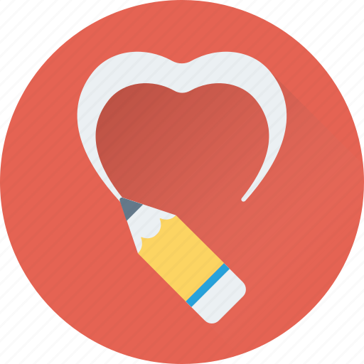 draw heart, drawing, heart, love, pencil icon