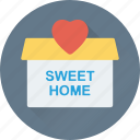 happy family, heart sign, house, love home, sweet home icon