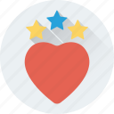 favorite, heart, love, stars, valentine icon