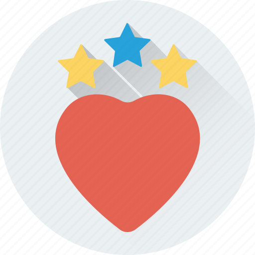 favorite, heart, love, stars, valentine icon