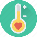 heart, love, love thermometer, temperature, thermometer icon
